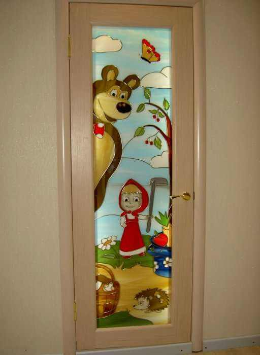 дизайн входных дверей двойных для детского сада